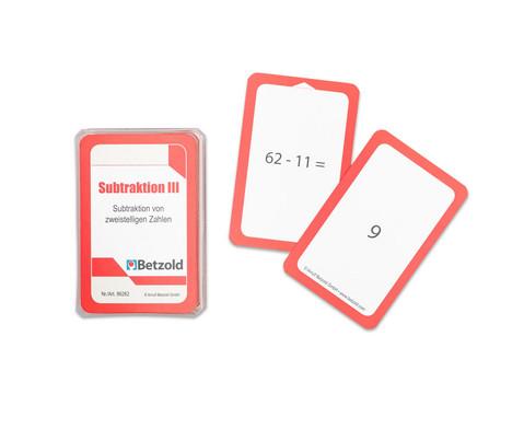 Kartensatz fuer den Magischen Zylinder - Subtraktion III-1