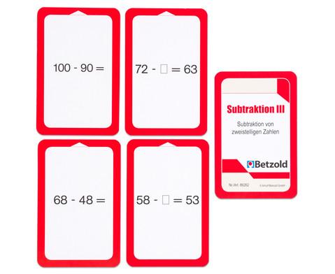 Kartensatz fuer den Magischen Zylinder - Subtraktion III-6