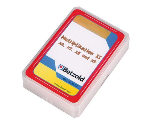 Kartensatz fuer den Magischen Zylinder - Multiplikation II-1
