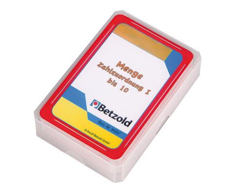 Kartensatz fuer den Magischen Zylinder - Menge-Zahlzuordnung bis 10-1