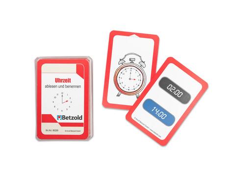 Kartensatz fuer den Magischen Zylinder - Uhrzeit ablesen und benennen