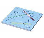 Arbeitskarten für transparentes Geometriebrett F (quadratisch)