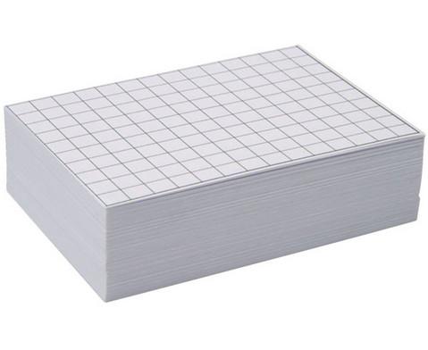 Blanko Karteikarten 100 Stueck kariert DIN A7-1