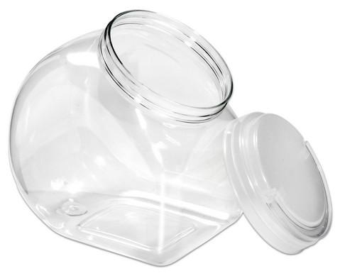 Material-Behaelter mit transparentem Schraubdeckel