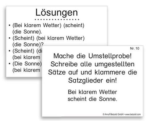 Lern- und UEbungskartei Satzglieder DIN A8-2