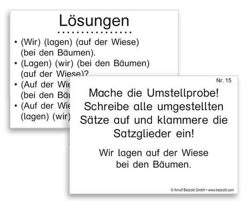 Lern- und UEbungskartei Satzglieder DIN A8-3