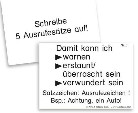 Lern- und UEbungskartei Zeichensetzung DIN A8-2