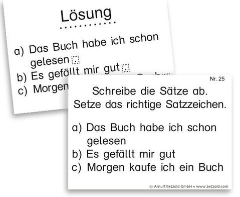 Lern- und UEbungskartei Zeichensetzung DIN A8-3