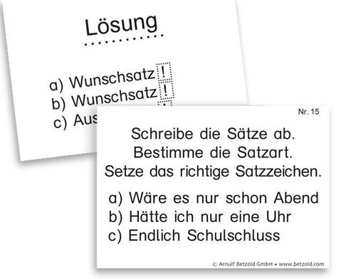 Lern- und UEbungskartei Zeichensetzung DIN A8-5