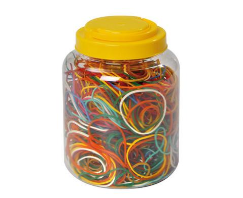 1000 Gummiringe in verschiedenen Farben und Groessen
