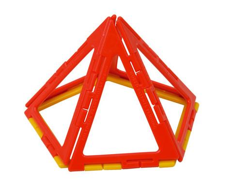 Polydron Prismen- und Pyramiden-Set - Kantenmodelle-3