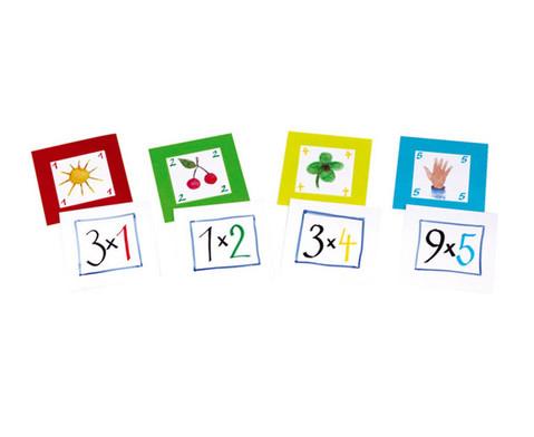 Pocket Cube Karten - Satz 1 Einmaleinsreihen 1-5