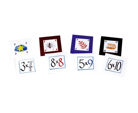 Pocket Cube Karten - Satz 2 Einmaleinsreihen 6 - 10