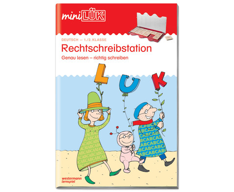 miniLUEK Heft Rechtschreibstation 1 Klasse