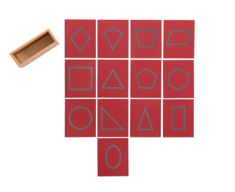 Sandpapier - geometrische Formen im Holzkasten-4