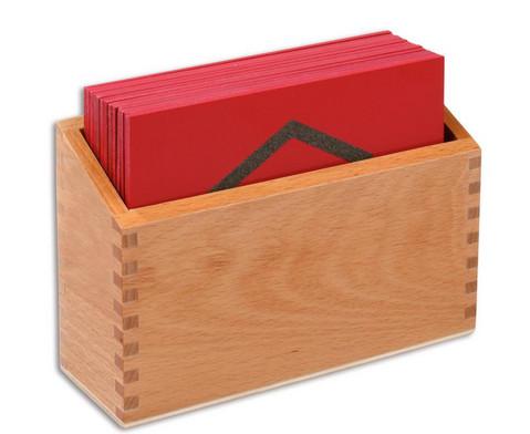 Sandpapier - geometrische Formen im Holzkasten-3