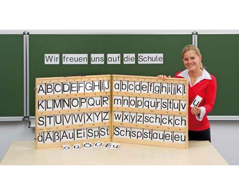Magnetischer Buchstabensatz im Holzkoffer-1