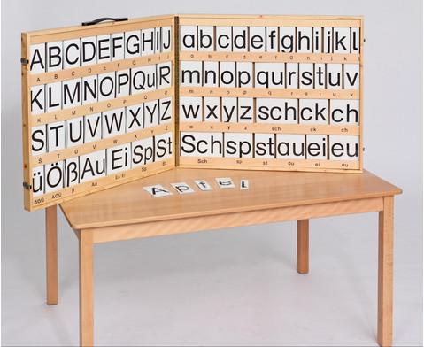 Magnetischer Buchstabensatz im Holzkoffer-2