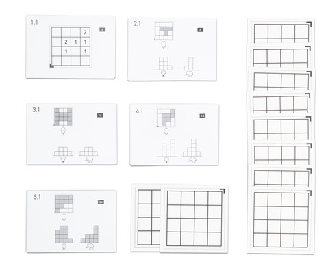 Betzold Cubo Kartensaetze 1 - 5 ohne Holzwuerfel