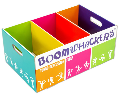 Bunte Aufbewahrungsbox fuer Boomwhackers