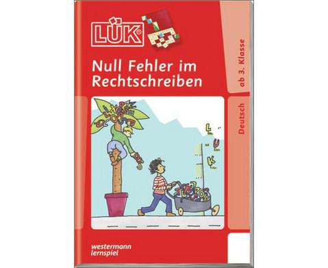 LUEK-Heft Null Fehler im Rechtschreiben 1-1
