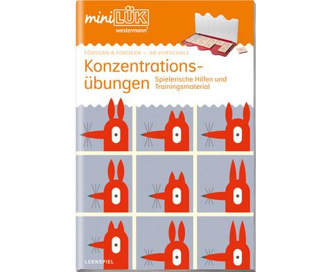 miniLUEK-Heft Konzentrationsuebungen 1-1