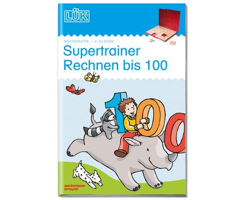 LUEK Supertrainer Rechnen bis 100 2 Klasse