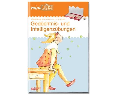 miniLUEK Gedaechtnis- und Intelligenzuebungen 2-3Klasse