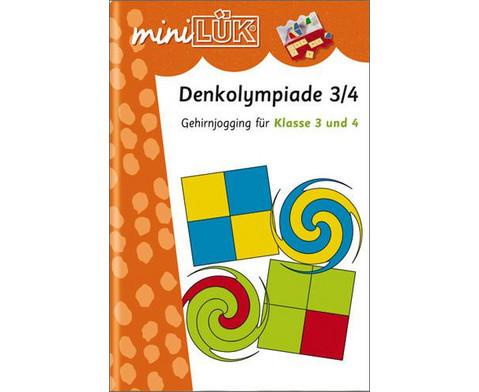miniLUEK Denkolympiade Gehirnjogging fuer Klasse 3 und 4-1