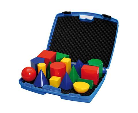 Geometriekoerper im Kunststoffkoffer 17 Stueck-1