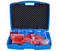 Füllkörper im Kunststoffkoffer, 17 Stück