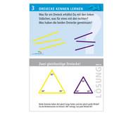 Arbeitskarten zu Winkelschienen: Dreiecke kennenlernen