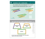 Arbeitskarten zu Winkelschienen: Knobeln mit Vierecken