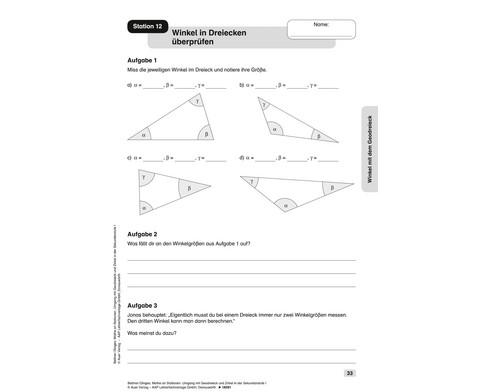 Mathe an Stationen Umgang mit Geodreieck Zirkel-3