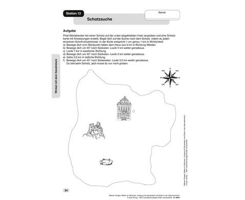 Mathe an Stationen Umgang mit Geodreieck Zirkel-4
