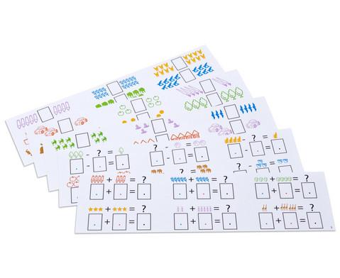 Aufgabenkarten fuer Rechenmagnetbox Set 1