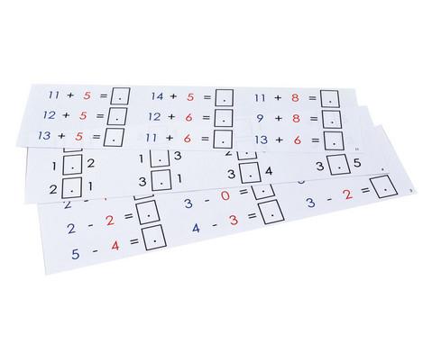 Aufgabenkarten fuer Rechenmagnetbox Set 2