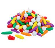 Rechengemüse im Kunststoffbehälter
