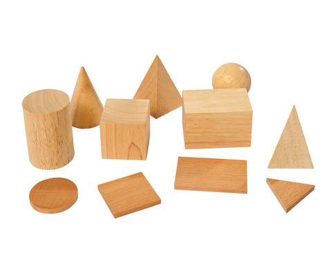 Geometriekoerper und Grundflaechen 11teiliger Satz