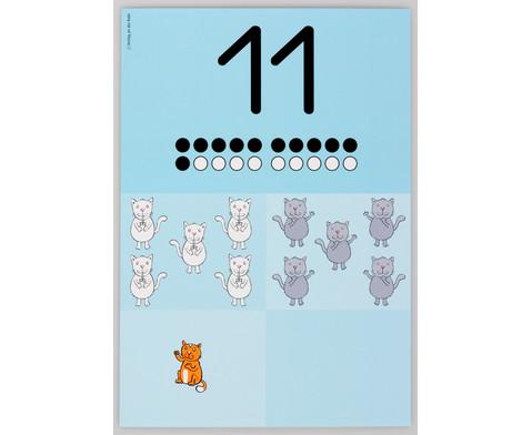 Die grossen Zahlen-Bildkarten von 0 - 20-3