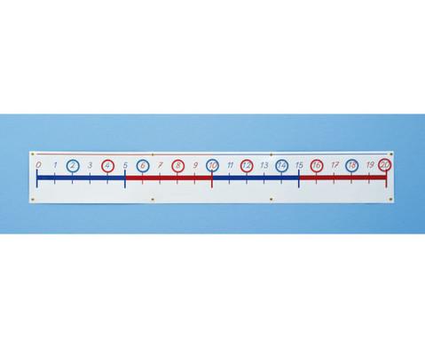 Magnet-Zahlenstrahl 0 - 20-4