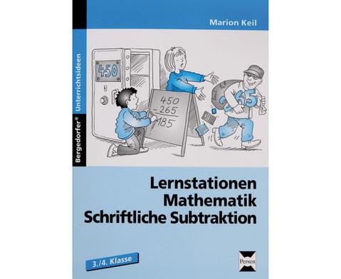 Lernstationen Mathematik Schriftliche Subtraktion-1
