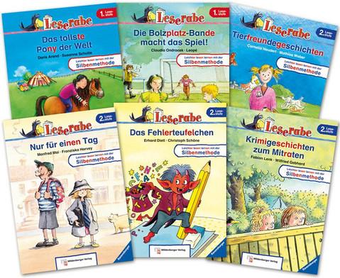 Leserabe Lesestufe 1 und 2 - Set mit allen 10 Baenden