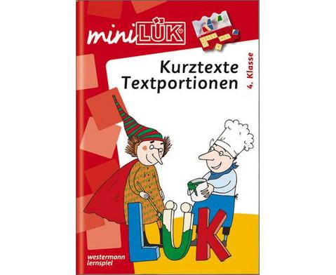 miniLUEK-Heft Kurztexte Textportionen 4 Klasse-1