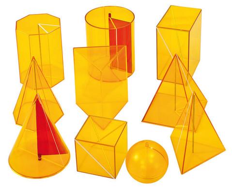 Betzold 10-tlg Satz Geometriekoerper aus Plexiglas