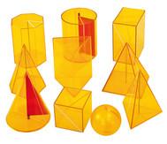 Geometriekörper aus Plexiglas, 10-teiliger Satz