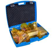 Geometriekörper aus Plexiglas im Koffer, 10-teiliger Satz