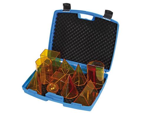Geometriekoerper aus Plexiglas im Koffer 10-teiliger Satz-1