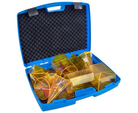 Geometriekoerper aus Plexiglas im Koffer 10-teiliger Satz-4