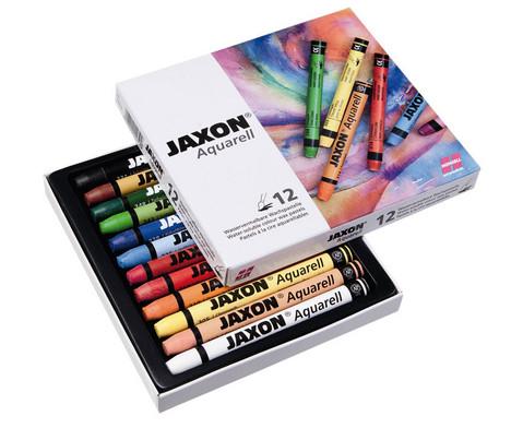 Jaxon Aquarell Wachspastelle 12 Farben
